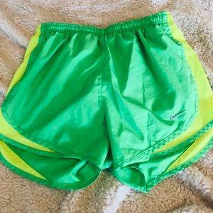 Nike green dri-fit shorts